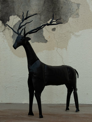 Metal Craft Deer Curio - Large - The India Craft House