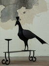 Metal Craft Peacock Candle Stand - Large