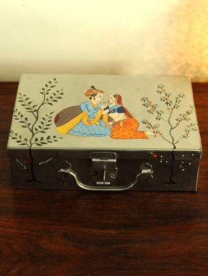 Miniature Painted - Tin Trunk, Large - The India Craft House