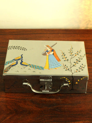 Miniature Painted - Tin Trunk, Medium