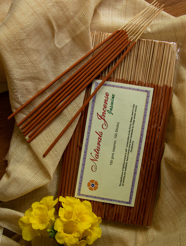 Natural Oils & Herbs Incense Sticks - Jasmine (150 sticks) - The India Craft House