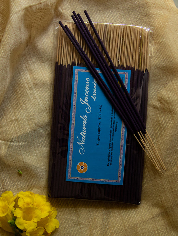 Natural Oils & Herbs Incense Sticks - Lavender (150 sticks) - The India Craft House