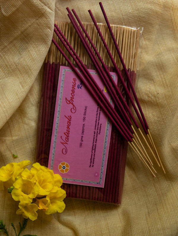 Natural Oils & Herbs Incense Sticks - Rose (150 sticks) - The India Craft House