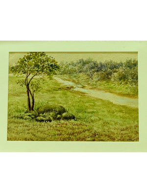 Original Kolhapur Water Colour Painting, with Mount