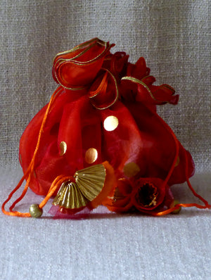 Ornate Organza Gift Pouch - The India Craft House