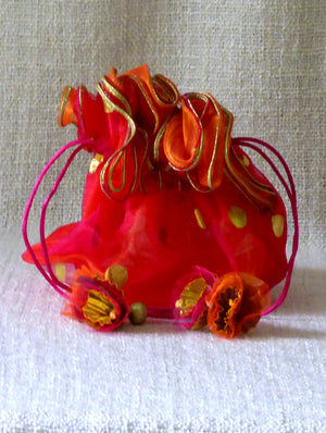 Ornate Organza Gift Pouch