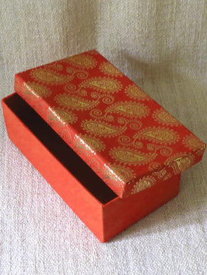 Paisley Printed Gift Box - The India Craft House