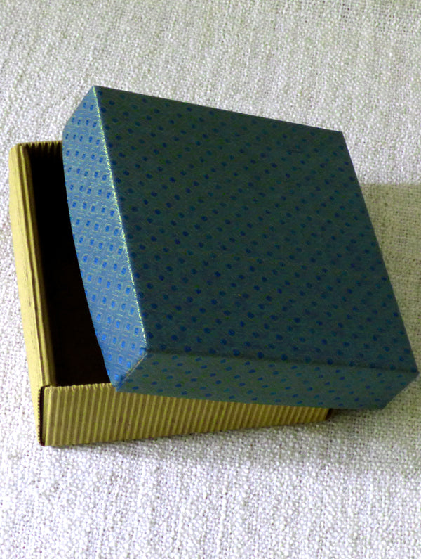 Paper & Cloth Square Large  Box - The India Craft House