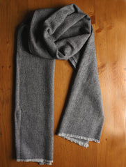Soft Wool Warm Stole - Herringbone Design