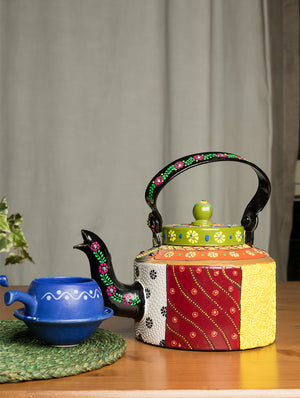 Patachittra Art - Tin Teapot, Small