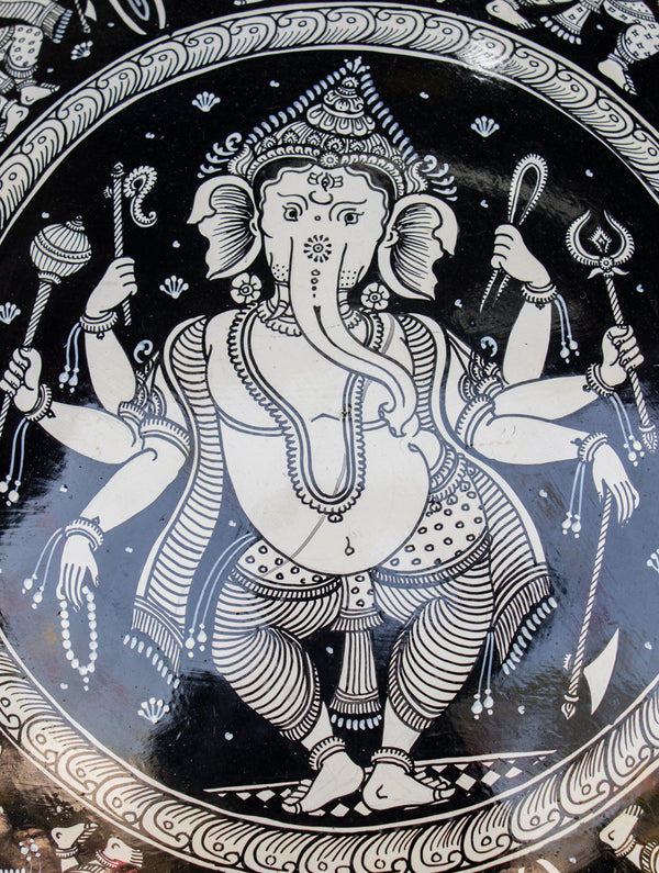 Pattachitra Art Wall Plaque - Ganesha - The India Craft House