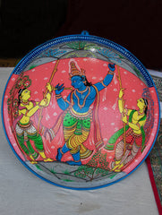 Pattachitra Art  Wall Plaque - Krishna