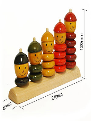 Peppy Five - Wooden Educational Toy