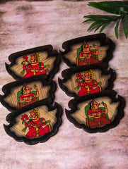 Phad Art - Fan Shaped Coasters (Set of 6)