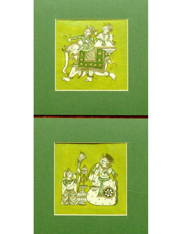 Phad Art - Fine Paper Painting Unframed (Set of 2) - The India Craft House
