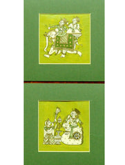 Phad Art - Fine Paper Painting Unframed (Set of 2)