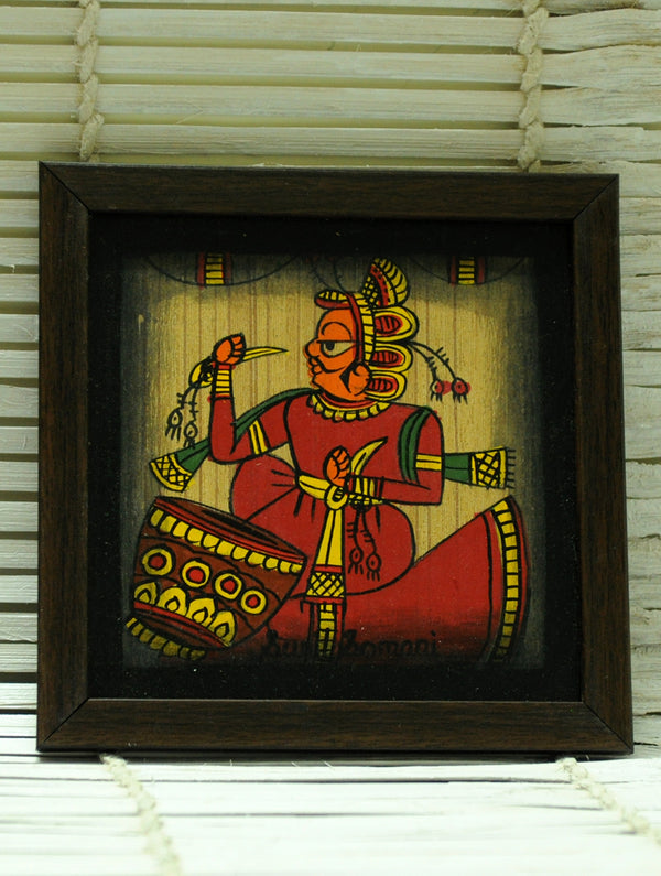 Phad Art - Painting on Wood, Framed, Small, Multicoloured - The India Craft House