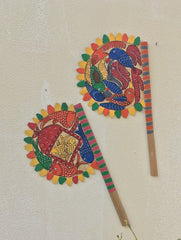 Potua Art - Hand Painted Fan (Set of 2)