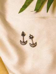 Pure Silver Maharastrian Earrings - Small
