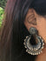 Silver Earrings - Large Round Baali Dangler - The India Craft House