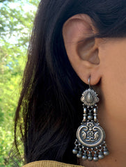 Silver Earrings - Long Dangler