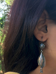 Silver Earrings - Long Fish Dangler