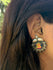 Silver Stud Earrings with Miniature Painting - Lord Ganesha - The India Craft House