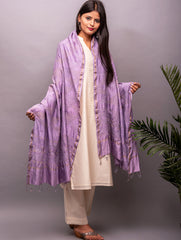 Exclusive Pure Eri Silk Dupatta with Ultra Fine Bandhini