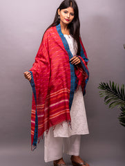 Fine Cotton Block Printed Dupatta With Gicha Border