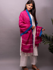 Fine Cotton Block Printed Dupatta With Gichha Border