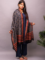 Chanderi with Ajrakh Block Printing Dupatta