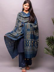 Exclusive & Pure Kachchh Organic Cotton Ajrakh Dupatta