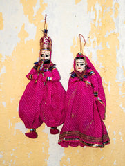 Rajasthan Cloth Puppets - Couple