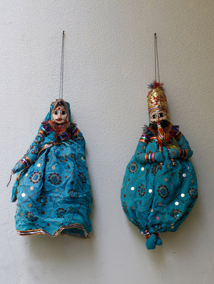 Rajasthan Cloth Puppets - Couple - The India Craft House