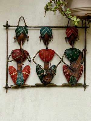 Rajasthani Metal Craft Wall Piece -Musicians