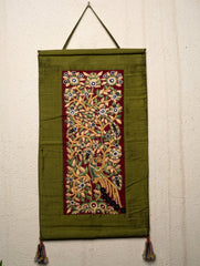 Raw Silk with Fine Kutch Embroidery - Wall Hanging, Large