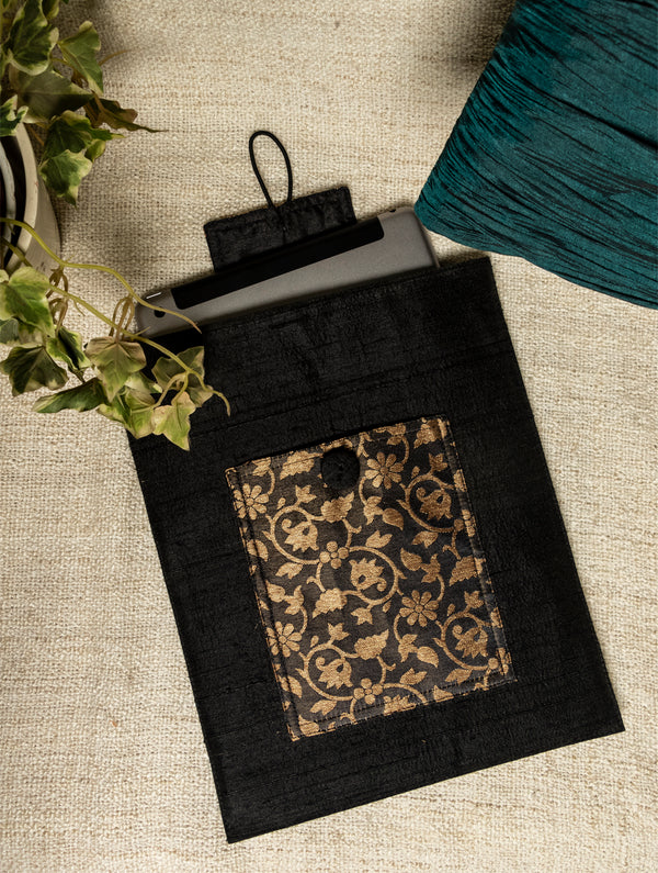 Raw Silk & Brocade - iPad Cover - The India Craft House