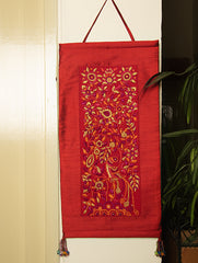 Raw Silk with Fine Kutch Embroidery - Wall Hanging