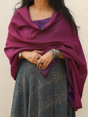 Reversible Soft Silk Wool Kashmiri Stole