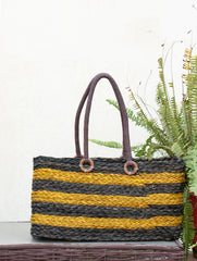 Sabai Grass Tote Bag / Basket With Rope Handles - (Large)