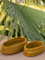 Sabai Grass Oblong Multi-Utility Baskets - Set of 2