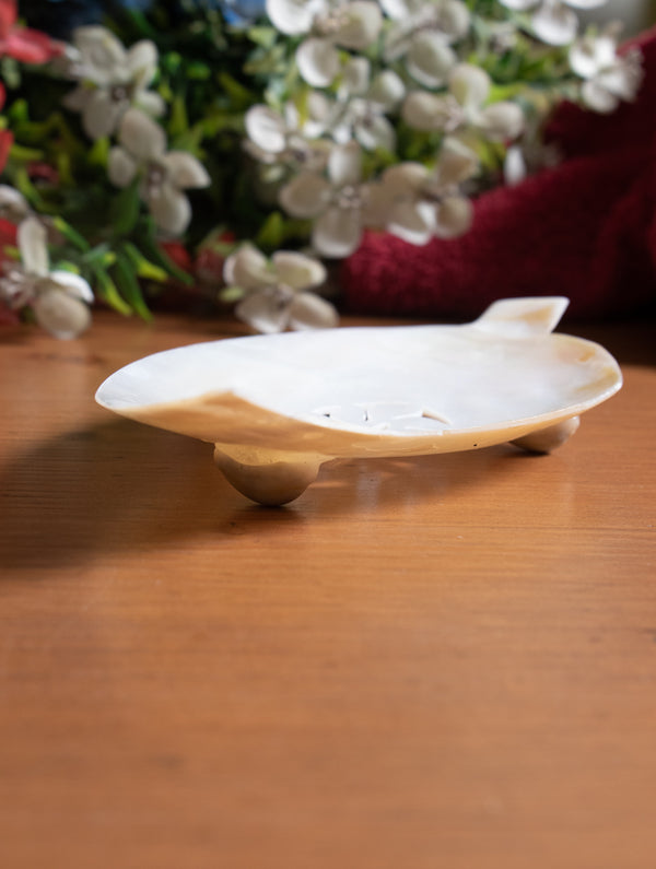 Shell Craft Soap Holder - Leaf - The India Craft House