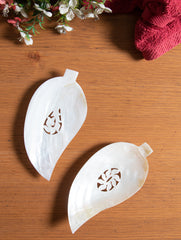 Shell Craft Soap Holder - Leaf (Set of 2)