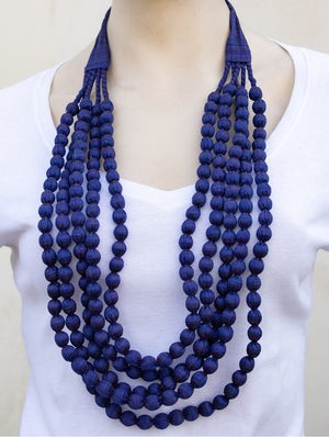 Silk Fabric Beads Multi-String (5 strings)