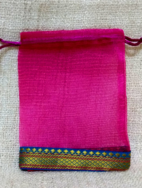 Silk Small Cloth Pouch - The India Craft House
