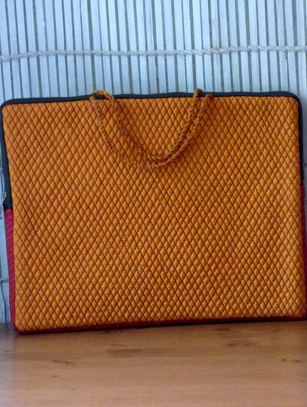 Silk & Zardozi Laptop Bag - The India Craft House