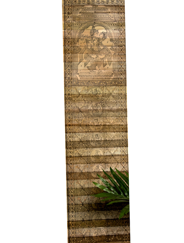 TalaPattrachitra Scroll - Painting on Palm Leaf, Long - The India Craft House