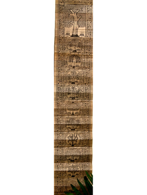 TalaPattrachitra Scroll - Painting on Palm Leaf, Long