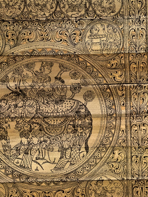 TalaPattrachitra Scroll - Painting on Palm Leaf, Small