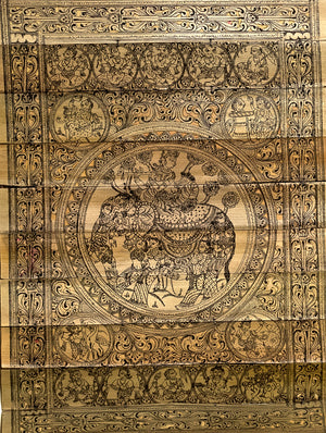 TalaPatrachitra Scroll - Painting on Palm Leaf, Small